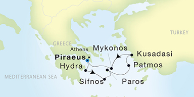SeaDream Yacht Club: Athens to Athens Cruise