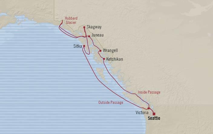 Oceania Cruises: Seattle to Seattle Cruise – Alaska Passages