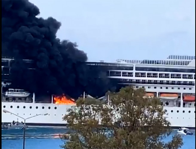 MSC Ship Catches Fire